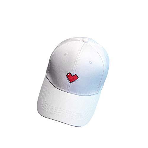 BKILF Baseball Cap Heißer 2019 Frauen Männer Sonnenschirm Baumwolle Golf Tennis Caps Outdoor Einstellbare Stickerei Herz Sport Baseball Tennis Cap