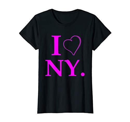 Damen I love New York T-Shirt NY Geschenk Tourist Souvenir