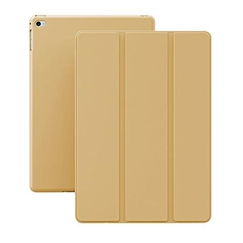 KHOMO Coque iPad Air 2 - Etui Housse Trés Fin et Leger avec Rabat Magnétique et Mise en Veille Automatique Apple iPad AIR 2 - D´or
