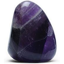 Ametista Chevron minerali pietra naturale per litoterapia.–Pietra roulée
