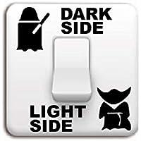 Shuzhen,Lado Oscuro, Interruptor Lateral, Etiqueta para Dormitorio, Pasillo, Hotel, Habitación para Niños, Cocina, Sala(Color:Negro,Size:6.2 x 6 cm)