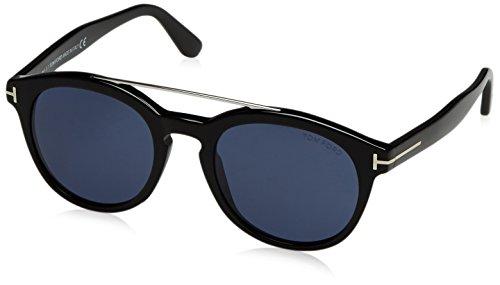 Tom Ford Unisex-Erwachsene FT0515 01V 53 Sonnenbrille, Schwarz (Nero Lucido/Blu),