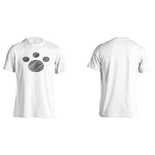 Animale piede scribble novità nuova divertente arte Uomo T-shirt c769m White