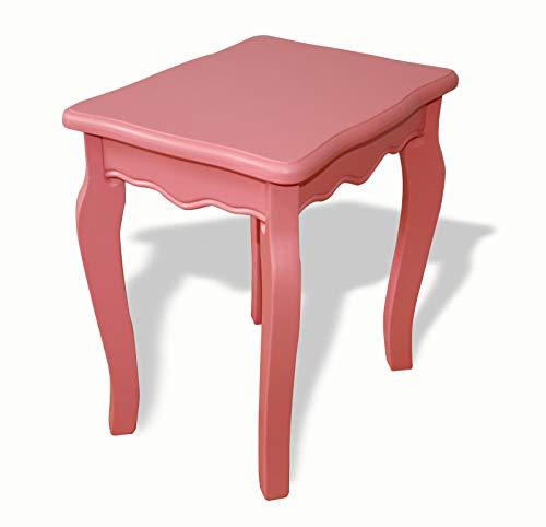 IMC Manufactoria Holzhocker Hocker alt-rosa Stuhl Sitz günstig Holz mediterran Bank Kinder Frau