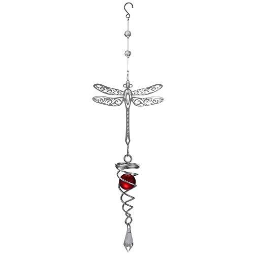 Spiegel Windspiel zum Aufhängen Metall Tabelle Drehen Bell Craft, Dragonfly ()