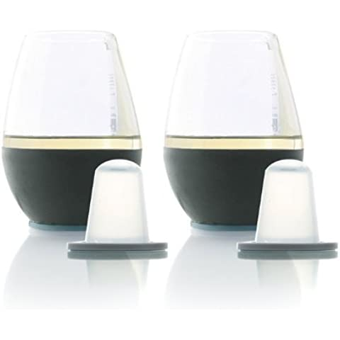 Soireehome Dimple Self-Chilling Set of Stemless Wine Glasses soho-1010