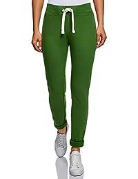 oodji Ultra Damen Jersey-Hose im Sport-Stil mit Dekortaiven Bindebändern b0d8713ceb