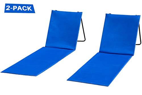 2 Strandstühle mit Rückenlehne, bequem, leicht, tragbar und einfach zu transportieren, auch als Picknick- oder Parkstuhl verwendbar