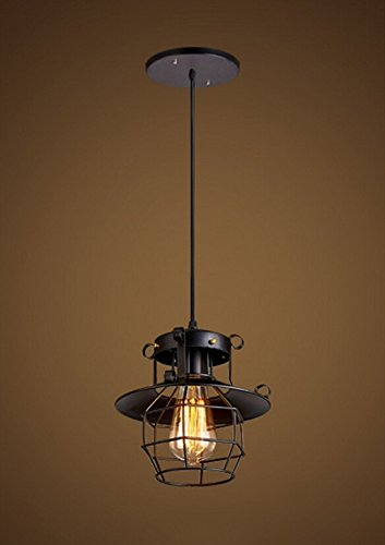 GBYZHMH Kronleuchter Nordeuropa Retro Industrial Wind Bar Restaurant Lampen American Style Cafe kreative Persönlichkeit Bügeleisen Explosionsgeschützte Kronleuchter Haushalt Beleuchtung (Größe: S) - Explosionsgeschützte Beleuchtung
