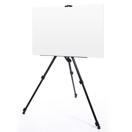 CLE DE TOUS@ Caballete para pintar (170cm, 12kg) Soporte Tripode para Aluminio cuadros + una funda portabilidad