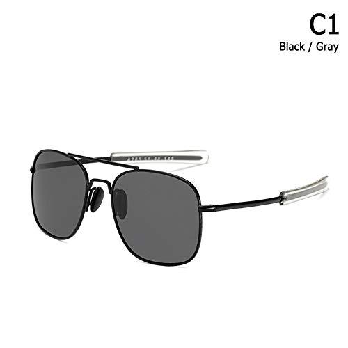 ZHOUYF Sonnenbrille Fahrerbrille Mode Polarisierte Ao Armee Militärischen Stil Luftfahrt Sonnenbrille Männer Fahren Markendesign Sonnenbrille Oculos De Sol, A