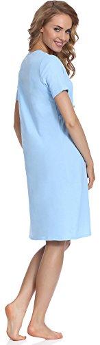 Italian Fashion Femmes Chemise de nuit d'allaitemen Chemise de Nuit Vêtements de maternité - différentes couleurs - MADE IN EU Bleu