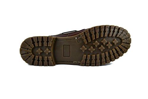 Zerimar Chaussures Bateau en Cuir Pour Homme Grande Taille Chaussures Pour Homme Tan