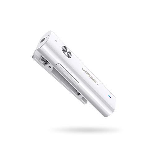 UGREEN Bluetooth Receiver Clip 5.0 Bluetooth Empfänger Kopfhörer 3,5 mm Klinke Bluetooth Adapter Unterstützt für Kopfhörer Headset Auto Lautsprecher iPhone 11 Samsung Note 10 usw.