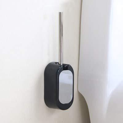 WANDOM Toilet Brush Holder Hard Brush Toilet Toilet Box Toilet Brush Toilet Brush Set Floor, Black -