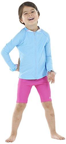 Zoggs Paradise Beach-Pantaloncini per protezione solare, ragazza, Paradise Beach Shorts, Fuchsia, W19/2-3 anni