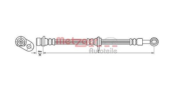 METZGER Bremsschlauch 4110494