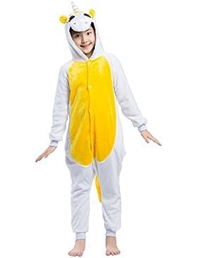 Pijama Unicornio, Franela Onesie Animal Cosplay para Niños entre 9,0 y 1,46 m Unisex Kigurumi