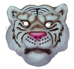 Weißer Tiger Maske Kinder Accessoire Karneval Fasching