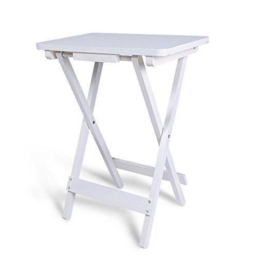 Tavolino Con Vassoio.Folding Table Nan Tavolino Con Vassoio In Bianco Tavolo Pieghevole In Legno 45 X 30 X 61 Cm Vassoio Adatto Per Giardino Balcone E Terrazza