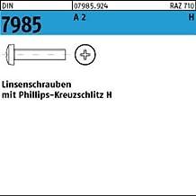 Linsenschrauben 2 mm DIN 7985 M 2 x 10 Edelstahl A2 10 Stk
