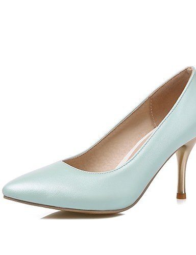 WSS 2016 Chaussures Femme-Bureau & Travail / Décontracté-Bleu / Rose / Violet / Blanc-Talon Aiguille-Talons / Bout Pointu-Talons-Polyuréthane pink-us7.5 / eu38 / uk5.5 / cn38