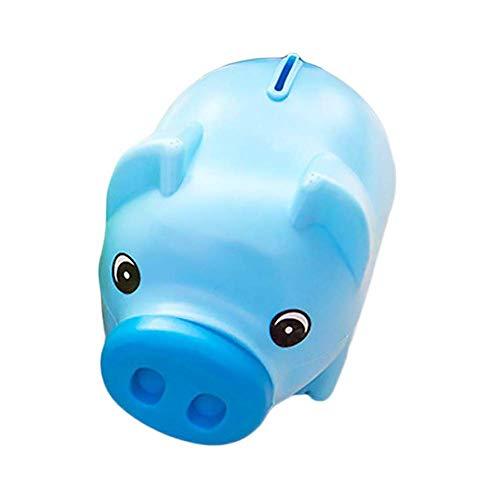 EUYOUZI Chinese Pig Money Box Blue Animal Design Piggy Bank Creative Coin Bank Box Kids Gift Saving Pot Pig Money Bank (Medium)