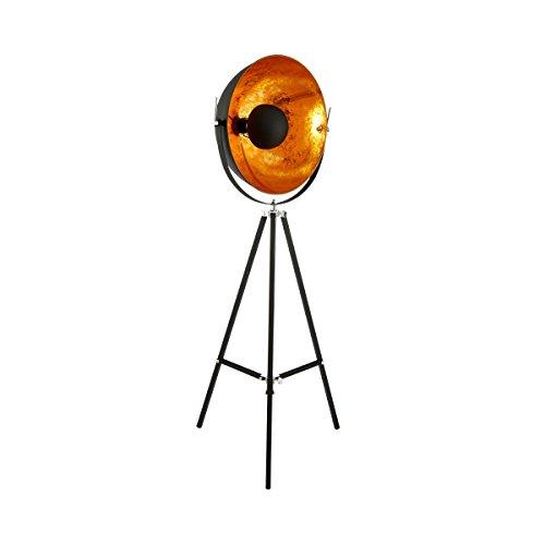 BUTLERS Satellight Standleuchte Stehlampe mit Dreifuß-Ständer - Metall Retro Factory-Design