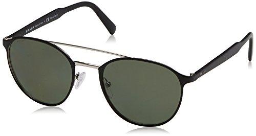 Prada Herren 0PR62TS 1BO5X1 54 Sonnenbrille, Schwarz (Matte Black/Silver/Polargreen),