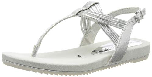 Tamaris 1-1-28107-22, Sandali con Cinturino alla Caviglia Donna, Argento (Silver 941), 39 EU