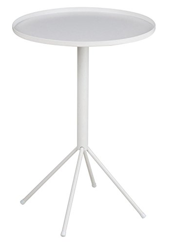 pkline Table d'appoint Wave en métal blanc