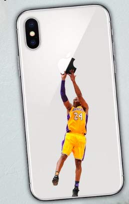 Art Design Hülle für iPhone X/iPhone XS Kobe Bryant Lakers 24 Basketball NBA Soft Silikon