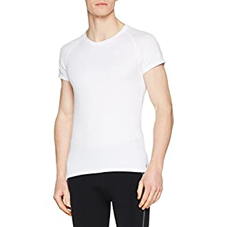 Odlo Active T-Shirt Manches Courtes Homme, Blanc, FR : S (Taille Fabricant : S)