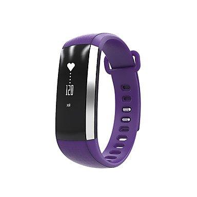 Lemumu Neue M2 Smart Band Heartrate Blutdruck Sauerstoff Pulsoximeter Sport Armband Uhr Watch Inteligente Pulso für Ios Android Telefon, Schwarz