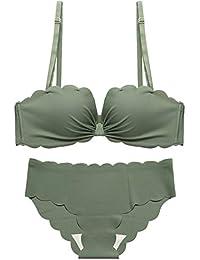 Zxl-yf Nouveaux sous-vêtements Mignons Japonais mis Femelle Aucun Anneau en  Acier beauté Sexy Soutien-Gorge sans Couture Dos… e8e45a8de55