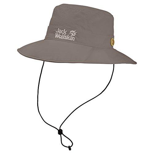 Jack Wolfskin Unisex Supplex Mesh Hat Hut, Siltstone, L