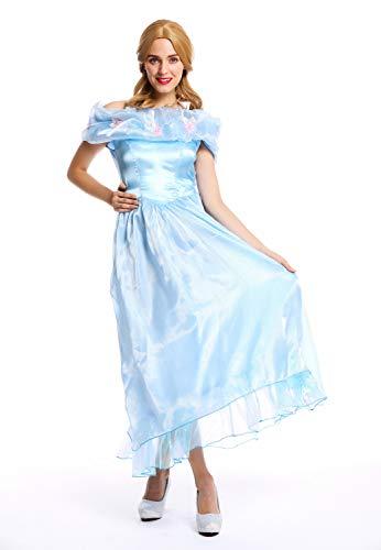 Ballkleid Kostüm Prinzessin - dressmeup W-0220 Kostüm Damen Frauen Karneval Prinzessin Fee Ballkleid hellblau M