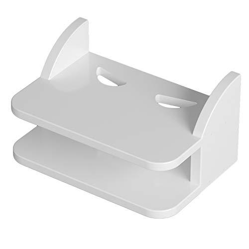 XIAOYAN Bücherregal Wandbehang WiFi Router Regal TV Set-Top Aufbewahrungsbox Telefon Lagerregal (Weiß) für Wohnzimmer - Tv-speicher-einheit