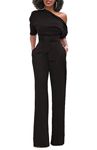 eb6ab139a1e5 tuta donna jumpsuit elegante E 3 4 Manica Scollato Intero Lavoro ...