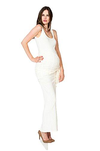 Nitis Umstandsmode Kleid Auril elegant Bezaubernd Umstands-Brautkleid bodenlanges Hochzeitskleid (L...