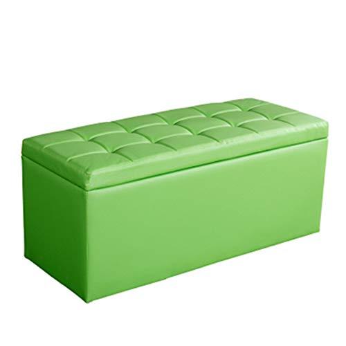 JIANFEI Fußhocker Sofa Hocker Gartenbank Lager PU-Kissen 9 Farben 7 Größe (Farbe : Green, größe : 120x30x36cm)