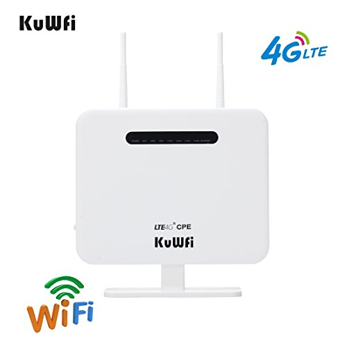KuWFi 300Mbps Sbloccato 4G LTE CPE WiFi Modem Mobile usato  Spedito ovunque in Italia
