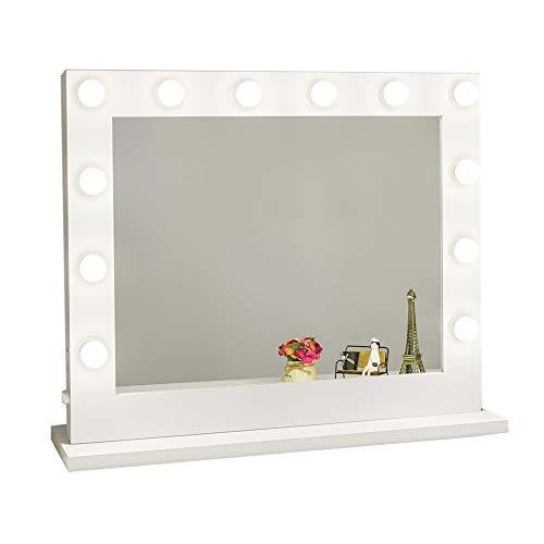 Chende Hollywood Kosmetikspiegel mit Beleuchtung Weisse freie Dimmer 14 LED-Lampen