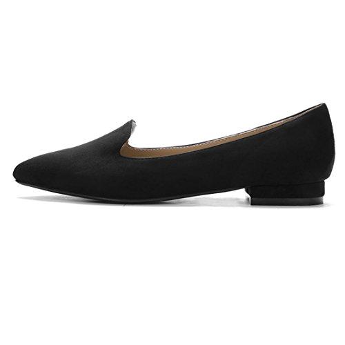 Allegra K Lady Imprimés Léopard Slip On Tip Flats Loafer Brown Us 9 Noir
