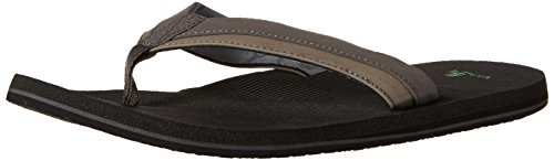 Sanuk Beer Cozy Light Mens Sandals White Charcoal