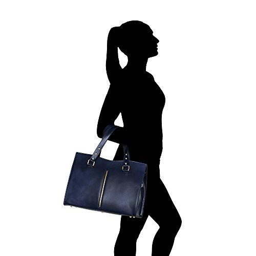 2018 Más Reciente Es El Precio Barato Borsa a Mano da Donna in Vera Pelle Made in Italy Chicca Borse 38x27x12 Cm Blu Salida De Línea El Pago De Visa Envío Libre Venta Barata De Bajo Costo St5k6OyPY