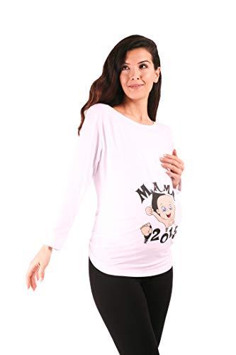 Mama 2019 - Witzige süße Umstandsmode T-Shirt mit Motiv Schwangersch