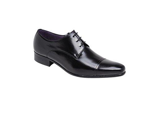 LEXUS , Chaussures de ville à lacets pour homme Noir - Cuir noir