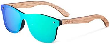Amexi Polarized Sunglasses for Men and Women, Wooden Sunglasses, UV 400 Protection