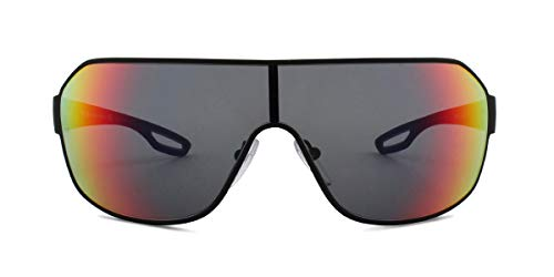 Ray-Ban Herren 0PS 52QS Sonnenbrille, Braun (Black Rubber), 40.0